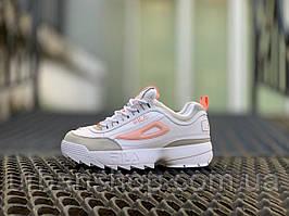 Взуття FILA DISRUPTOR II White Orange. Розміри :  , 37, 38, 39, 40,  .