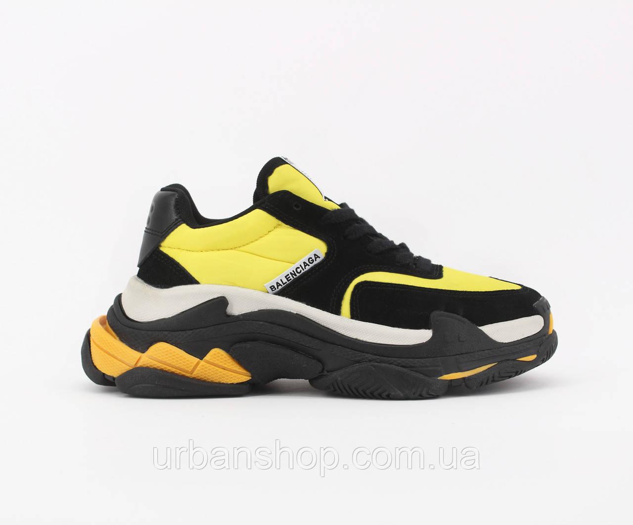 Взуття Balenciaga Triple S 2.0 Yellow Black 36
