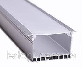 Алюминиевый профиль врезной для светодиодной Led ленты ЛСВ40 + рассеиватель