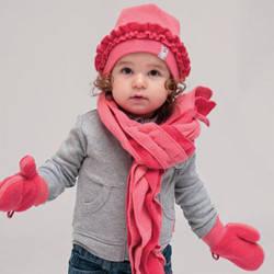 комплекты шарф-шапка-перчатки детские