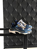 Взуття Balenciaga Triple S Blue 36, фото 1
