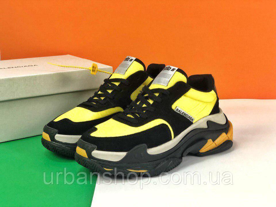 Взуття Balenciaga Triple S V2 yellow 36