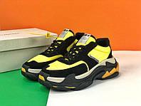 Взуття Balenciaga Triple S V2 yellow 36, фото 1