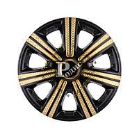 "Колпак декоративный DTM Super Black Gold 14'' Карбон  - Колпаки ""Star"""
