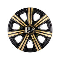 "Колпак декоративный DTM Super Black Gold 15'' карбон - Колпаки ""Star"""