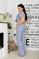 Женский стильный брючный комбинезон с карманами.