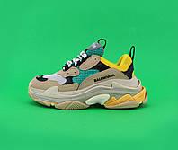Взуття Balenciaga Triple S Beige/Green/Yellow 40