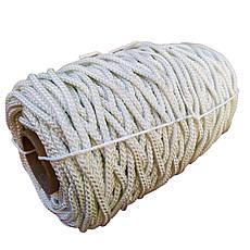 6мм - 100м  - 750кг Белорусская капроновая плетеная  веревка ПА+ПЕ со сроком службы до 50лет, фото 2