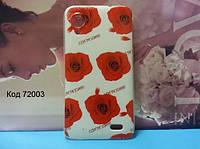Чехол на Lenovo S720 оригинальная панель накладка с рисунком розы на белом фоне