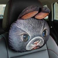 Незаменимый аксессуар для автомобиля, подушка-подголовник для машины, 3D подушка заяц