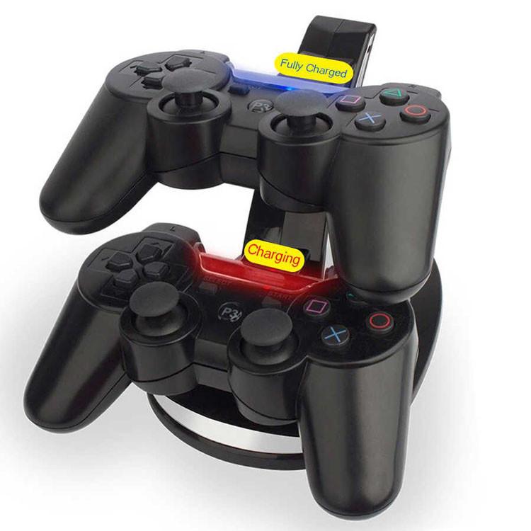 USB подставка - зарядка для джойстика PS3 (2в 1) Зарядная станция для 2 контроллеров