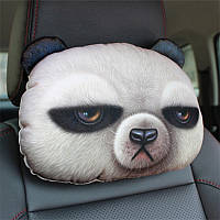 Мягкая подушка-подголовник панда для машины, 3D подушка для автомобиля