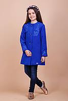Пальто демисезонное для девочки Миледи (110 размер) (Suzie)Сьюзи Украина электрик 34706