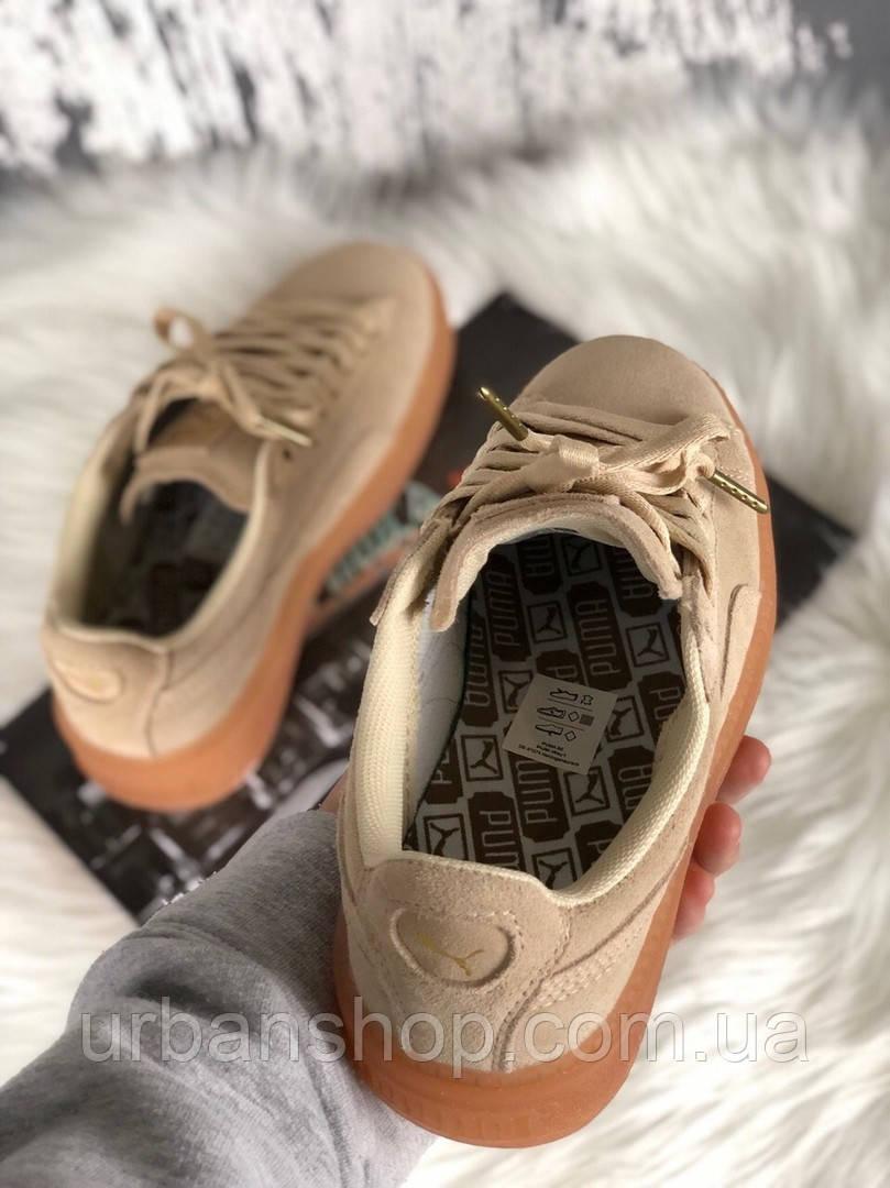 Взуття Puma Rihanna Fenty Suede Platform Beige 37