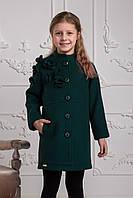 Пальто демисезонное для девочки Жанна (140,146р) (Suzie)Сьюзи Украина изумрудное ПТ-49806