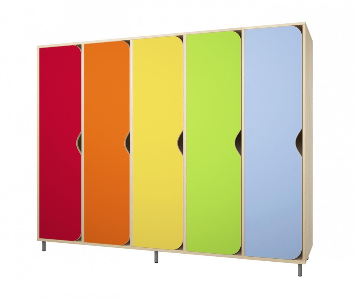 Шкаф детский для одежды на 5 секций. W24