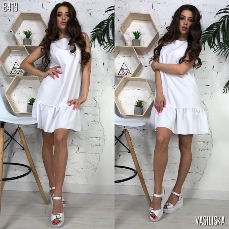 Платье, ткань: костюмка.  Размер:С,М. Разные цвета ( В419 )