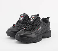 Взуття FILA DISRUPTOR II Full Black 38, фото 1
