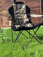 """Стул - кресло раскладной LyaHome """" Рыбак люкс """" черно-красный"""