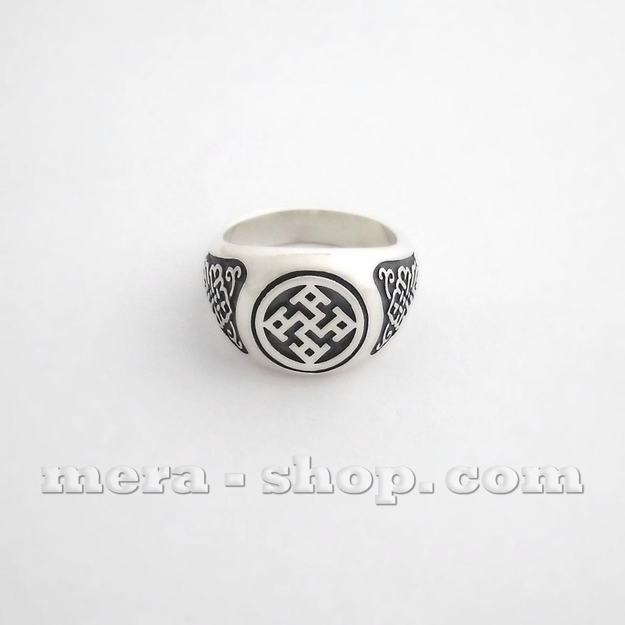 Духовная Сила перстень славянский оберег из серебра