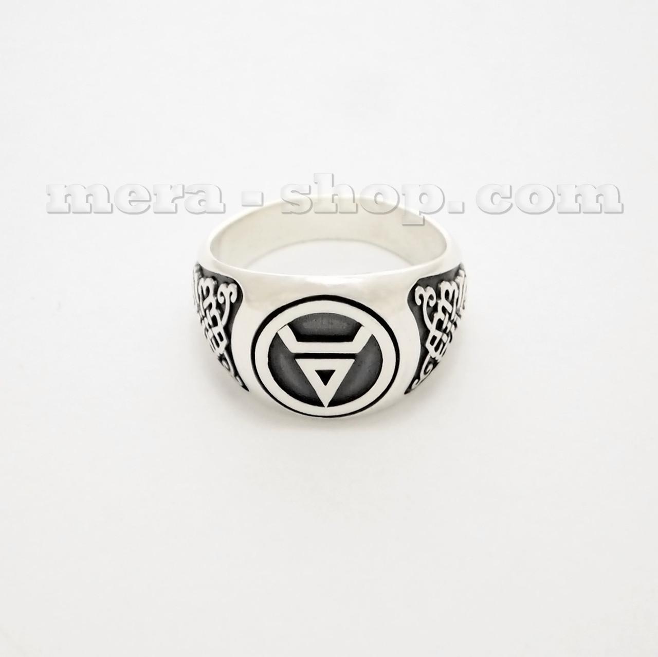 Символ Велеса перстень славянский оберег из серебра