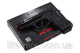 Пістолет стартовий Retay 84FS 9 мм Black (репліка Беретти M 84FS Cheetah)
