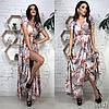 Сукня з принтом міді, тканина: софт. Розмір: С,М. Різні кольори (6493), фото 5