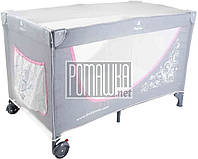 Москитная сетка на детский манеж 120*60 h=70см универсальная антимоскитная сетка также на детскую кроватку, фото 1