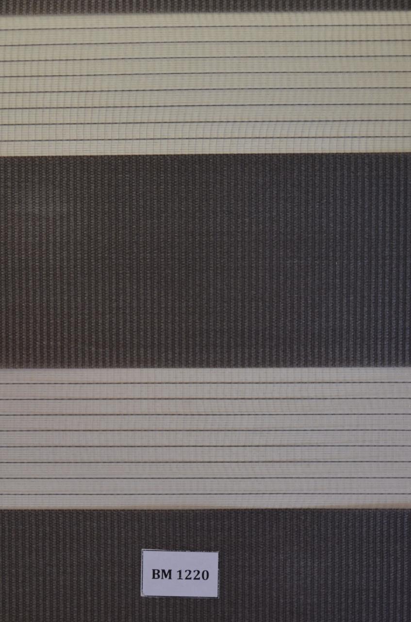 Рулонні штори день-ніч чорні ВМ-1220