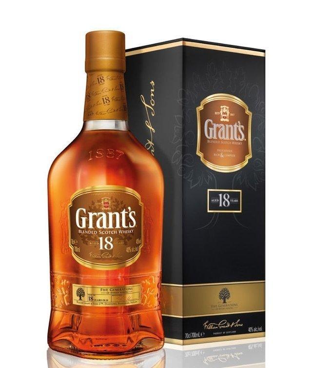 Виски Grants 18 Years Old (Грантс 18 лет) 40%, 0,75 литр
