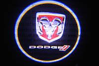 Подсветка дверей авто / лазерная проeкция логотипа Dodge | Додж