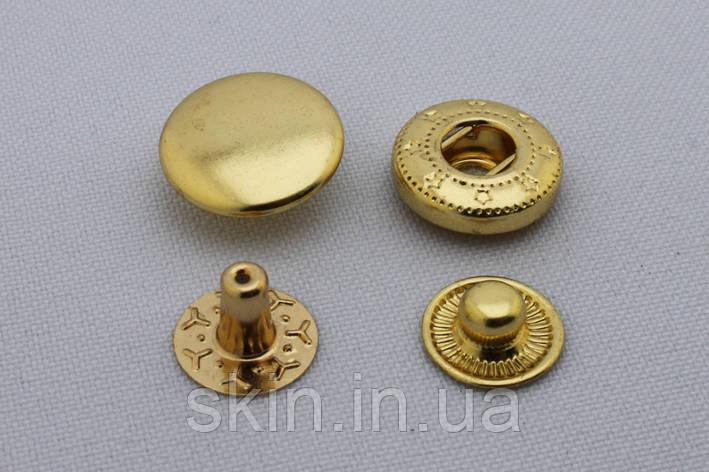 Латунная кнопка альфа, диаметр 15 мм, в упаковке - 5 шт., артикул СК 5356, фото 2