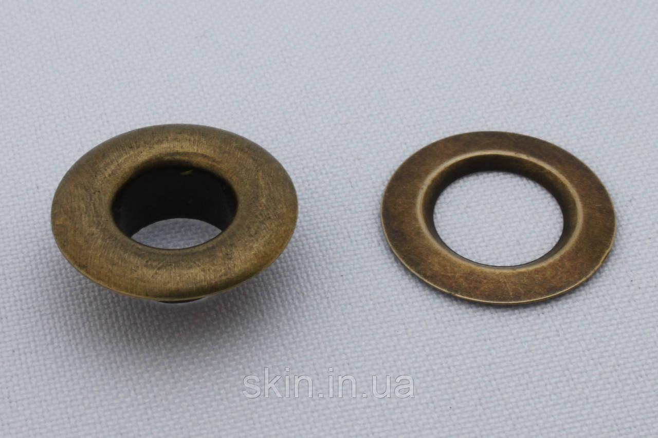 Люверс, внутренний диаметр 10 мм, высота 7 мм, цвет - антик, в упаковке - 20 шт., артикул СК 5086