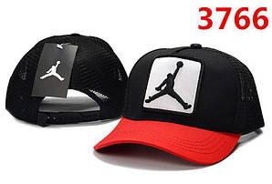 Бейсболка кепка Эир Джордан мужская/женская черная (реплика) Сap Air Jordan Black Red