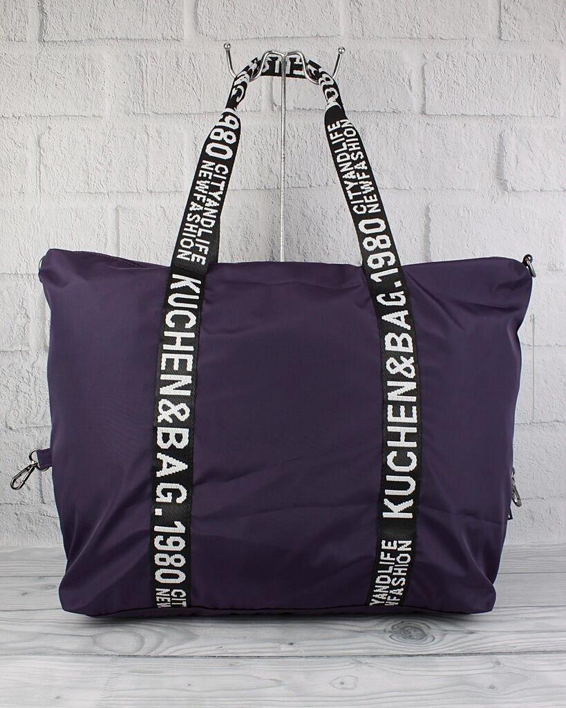 Сумка дорожная, спортивная, пляжная текстильная женская фиолетовая Emkeke 977