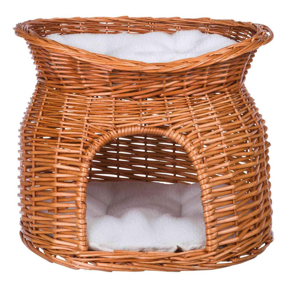 Плетена Домівка двоярусна для киці, собачки Trixie 54*37*43 см