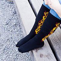 Шкарпетки Гетри із вогнем, фото 1