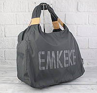 Сумка дорожная, спортивная, пляжная графит Emkeke 915, фото 1