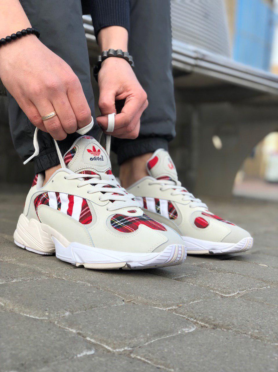 Кроссовки Adidas Yung 1 Белые-Красные