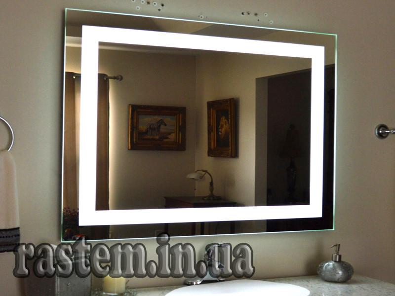 Дзеркало для ванної з LED підсвічуванням вологостійке DV 754-2 1025х800 мм. дзеркало дзеркало ЛІД ЛЭД
