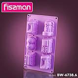 Форма для выпечки Fissman Поезд силиконовая 30х17см, 6 ячеек, фото 3