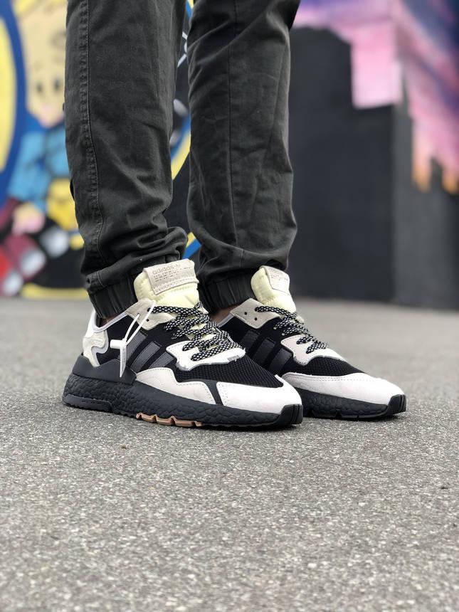 Кроссовки Adidas Nite Jogger Белые-Черные, фото 2
