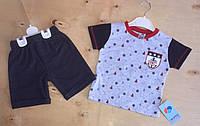 Костюм детский трикотаж, джинс 9-12-18-24 мес.