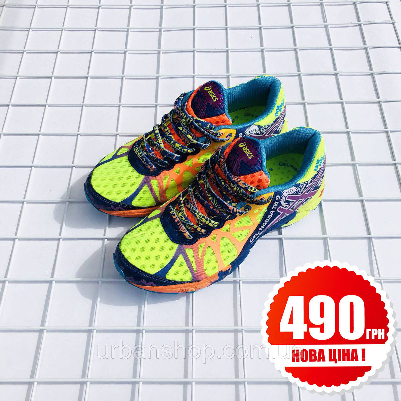 Взуття Asics Asics Gel Noosa Tri 9 Flash Yellow/Neon Purple/Navy 36
