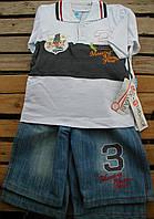 """Костюм джинсовый с шортами""""3"""" для мальчика 1-3 года"""