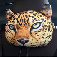 Экзотическая декоративная подушка-подголовник Леопард, мягкая 3D подушка в машину, автомобиль, кресло