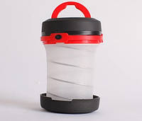Складний ліхтар SUNROZ Pop-Up Lantern для подорожей та туризму Чорно-Червоний (SUN4340), фото 1