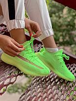 Женские кроссовки в стиле Adidas Yeezy Boost 350 V2 Clay Glov in the Dark (36, 37, 38, 39, 40 размеры), фото 2