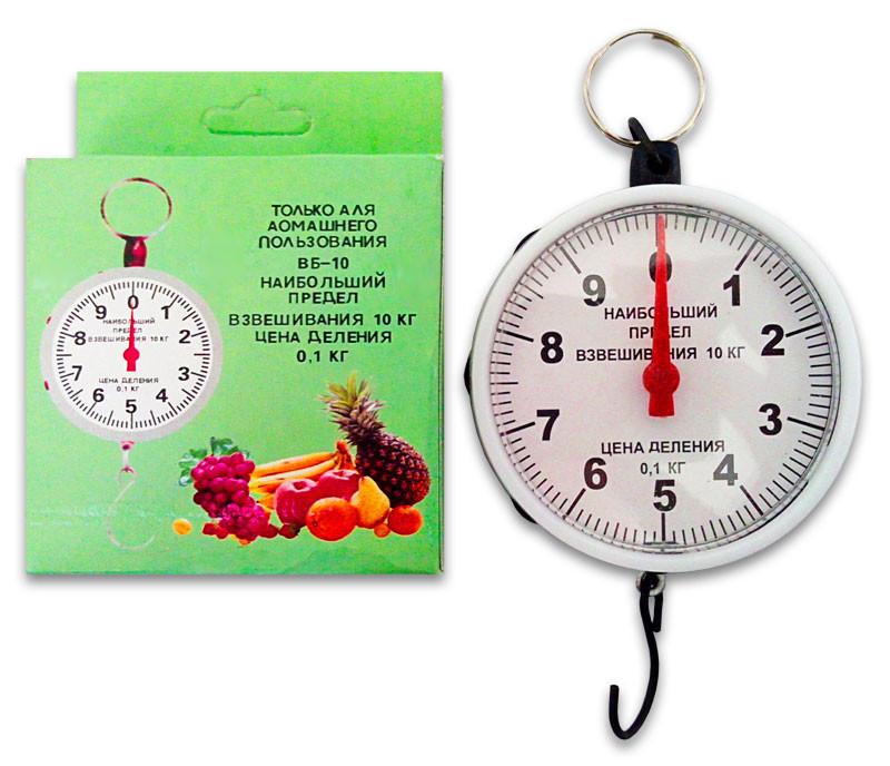 Весы бытовые кухонные ручные механические круглые (кантер), взвешивание до 10 кг