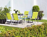 Обеденный набор садовой мебели лайм